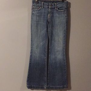 Citizens of Humanity 27 low waist full leg jeans